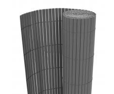 vidaXL Recinzione da Giardino a Doppio Lato 90x500 cm Grigia