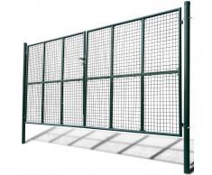 vidaXL Cancello a Rete per Giardino 415 x 250 cm / 400 200