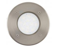 EGLO Faretto a LED Interrato da Esterno Lamedo 2,5 W Rotondo Argento