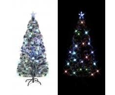 vidaXL Albero di Natale Artificiale con Supporto/LED e 170 Rami 150 cm
