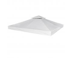 vidaXL Copertura Impermeabile di Ricambio Gazebo 270g m² Bianco Crema 3x3m