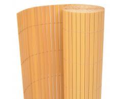 vidaXL Recinzione da Giardino a Doppio Lato 150x500 cm Gialla