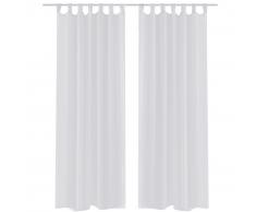 vidaXL Tenda Trasparente Colore Bianco 140 x 175 cm 2 pezzi