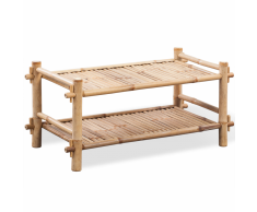 vidaXL Scarpiera porta scarpe a due piani in legno di bambù
