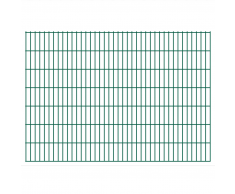 vidaXL 2D Pannello di Recinzione Giardino 2008x1430 mm Verde