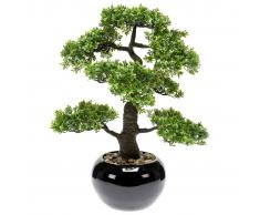 Emerald Ficus Artificiale Mini Bonsai 47 cm 420006 Verde