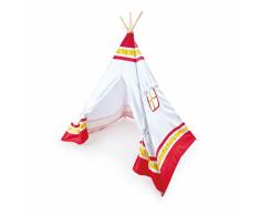 Hape Tenda Indiana Teepee per Bambini Rossa E4307