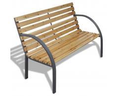 vidaXL Panchina da giardino con doghe legno e telaio di ferro