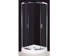 vidaXL Cabina doccia tonda 80 x cm alluminio e vetro temperato