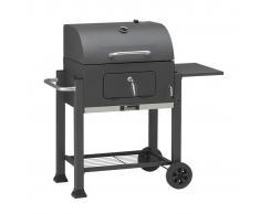 Grillchef Barbecue a Carbonella con Ruote Comfort 108x68x112 cm Nero