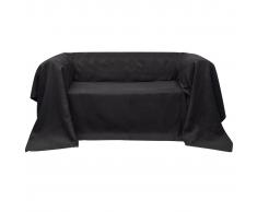 vidaXL Fodera per divano in micro-camoscio antracite 140 x 210 cm