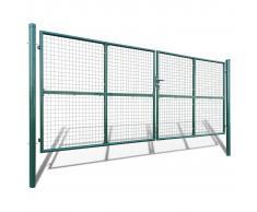 vidaXL Cancello a Rete per Giardino 415 x 200 cm / 400 150