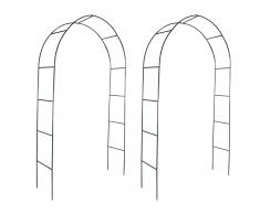 2x arco da giardino per piante rampicanti