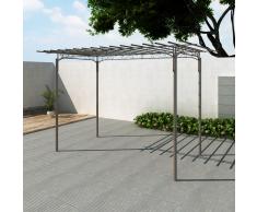 vidaXL Arco pergola da giardino per rose in acciaio decorazione