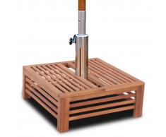 vidaXL Rivestimento supporto base ombrellone parasole in legno
