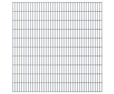 vidaXL Set Pannelli recinzione giardino 2D 2008x2030 mm 42 m grigio