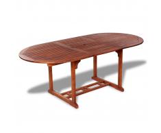 vidaXL Tavolo da esterno estendibile in legno di acacia