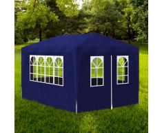 vidaXL Gazebo da Esterno Tenda per Feste 3 x 4 m Pannelli Blu
