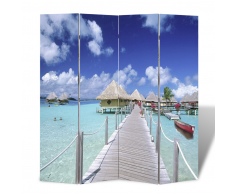 vidaXL Parete divisoria privacy divisorio 160 x 180 spiaggia
