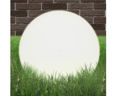vidaXL Lampada da giardino a sfera E27 50 cm in PMMA