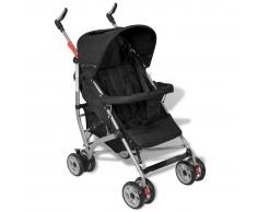 Passeggino carrozzino per bambini 5 posizioni stile moderno nero