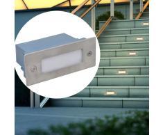 vidaXL Set 6 pz Luci da incasso a LED per le scale 44 x 111 56 mm