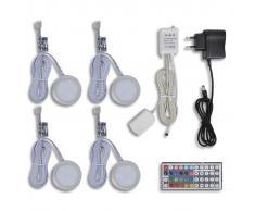 vidaXL Kit luci LED mensola cucina a 4 pezzi