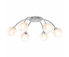 vidaXL Lampadario da Soffitto con 6 Lampadine LED G9 240 W