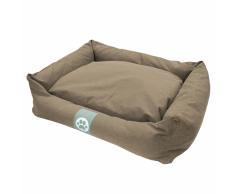 Overseas Cuccia per cani in tela 90x70x22 cm sabbia