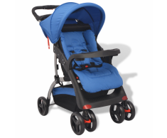 vidaXL Passeggino Blu 102 x 52 100 cm