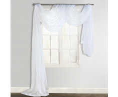 Tenda voile 140 x 600 cm bianca