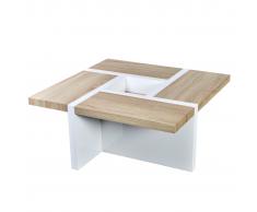 Tavolino da Caffèe Lucido Quercia / Bianco
