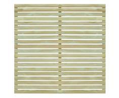 vidaXL Pannello di Recinzione da Giardino in Legno Pino 180x180 cm