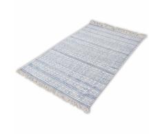 vidaXL Tappeto di Cotone 180x270 cm Blu