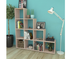 vidaXL Libreria a scala / Mensole 142 cm colore quercia