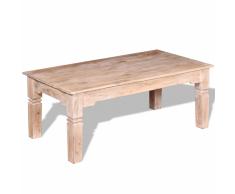 vidaXL Tavolino da Caffè in Legno Massello di Acacia 110x60x45 cm