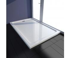 vidaXL Piatto doccia rettangolare in ABS bianco 80 x 120 cm