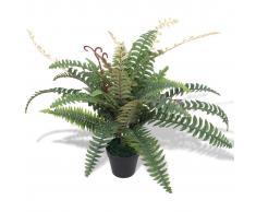 vidaXL Felce Pianta Artificiale con Vaso 60 cm Verde