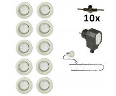 Luxform Set Completo Luci da Giardino a LED 10 pz Calypso 12 V