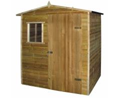 vidaXL Casetta da giardino in legno di pino impregnato 1,5 x 2 m