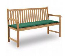 vidaXL Cuscino per Panca da Giardino Verde 150x50x3 cm