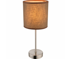 GLOBO Lampada da Tavolo BETTY in Tessuto Marrone 15 cm 15186T