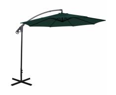 vidaXL Ombrellone parasole cantilever Banana verde 3 m