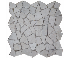 vidaXL Set 11 pz Piastrelle a mosaico in marmo oro 1 m²