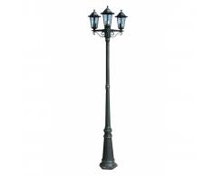 vidaXL Lampione da esterno Verona h. 215 cm