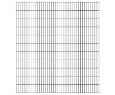 vidaXL Set Pannelli recinzione giardino 2D 2008x2230 mm 44 m grigio