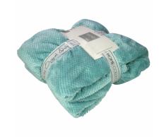 Gusta Coperta in Pile Pompom 152x127 cm Blu 04125070