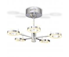 vidaXL Lampadario LED con 5 luci circolari