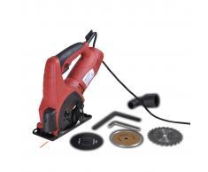 vidaXL Mini sega circolare con laser 600 W valigetta nera inclusa