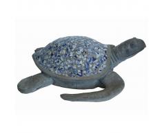 Velda Statua da Giardino con Mosaico a Forma di Tartaruga Mare in Poliresina